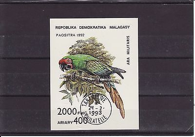 1993 Madagascar - Parrot Family (Military Macaw) - Sg Ms962 Imperf. - Used (Cto)
