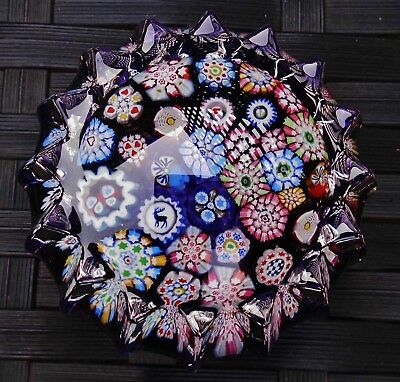 Perthshire John Deacons Butterfly Stag Complex Closepack Millefiori Paperweight