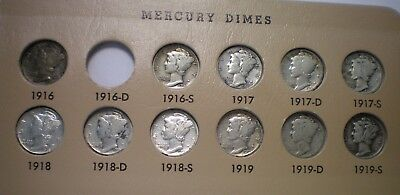 1916 To 1945 Mercury  Dime Collection / 70 Coins - See Description For Dates