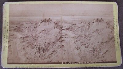 L.A. HUFFMAN Miles City STEREOVIEW #144 TOLL ROAD BADLANDS - Early MONTANA photo