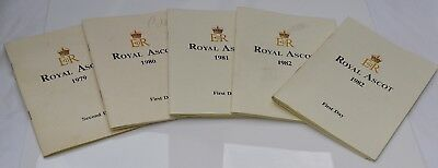 Vintage 1970 1980s Collection of Five Royal Ascot Racecards Unused
