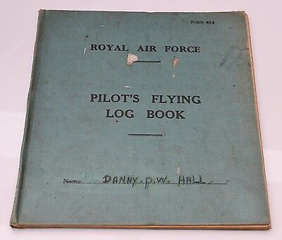 RARE WWII RAF Pilot's Flying Log Book Danny P.W. Hall