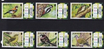 Jersey 2010 Woodland Birds with CYL/TL,Identical Sheet No's  MNH (6)