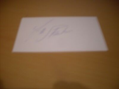 signed card of ex arsenal man utd ajax rep of ireland footballer frank stapleton
