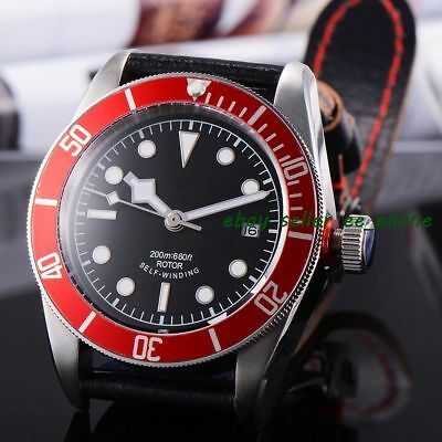 Corgeut 41MM Red Bezel Sapphire Glass Sterile Dial Automatic Watches WCA2010RW02