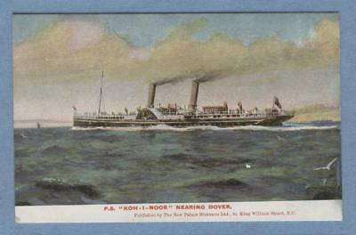 Paddle Steamer KOH-I-NOOR nearing Dover ..... New Palace Steamers, London