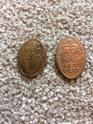 2 Key West Collectible Tokens Pressed Old 1 Cent Coin 1 Coin Clearly 1919