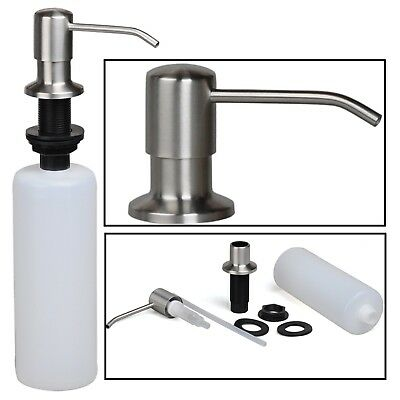 Dish Soap Dispenser Stainless Steel Built in Pump Kitchen Sink Large Capacity