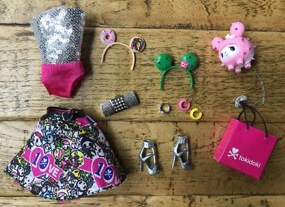Tokidoki Barbie Doll Complete Outfit~Donut + Cactus Headbands~ModelMuse~New