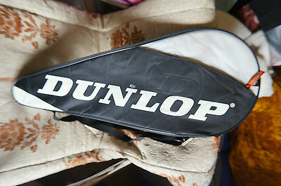 dunlop full size tennis racket cover,black with integral pouch for ball