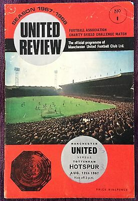 1967 Charity Shield Football Programme - Manchester United V Tottenham Spurs