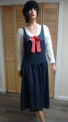 Size 14 20's Style Nautical Dress