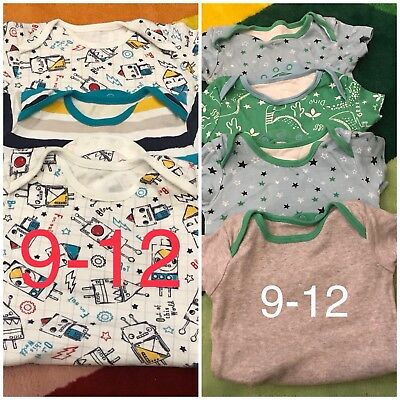 Baby Boys Vests 9-12 Months