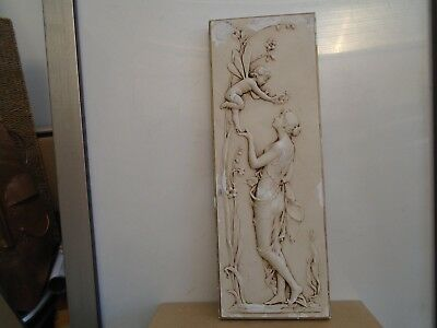 antique style artforum NYMPH plaque   must see fairy wall hanging plaque  LOOK
