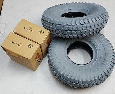 NEW Pair of 3.00-4 (10x3) Pneumatic Tires and Inner Tubes 163100 113100