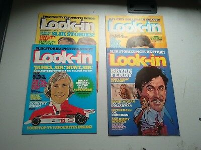 Look-In Comics 4 Issues From 1976  31/7  28/7  11/9   16/10