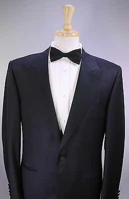 CANALI  Tuxedo Dinner Suit Black Peak Lapel 40R  Fully Canvassed Jacket.