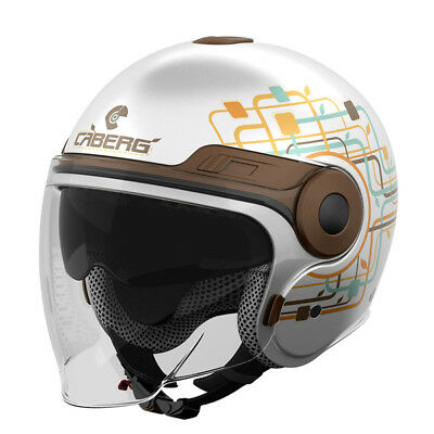 Caberg Uptown Jet Open Face DVS Retro Scooter Motorcycle Lady Helmet