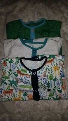 Next boys 6-9 months sleepsuits