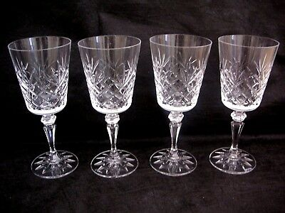 Galway Irish Crystal OLD CLARE large Wine Glasses. SIGNED ON BASES