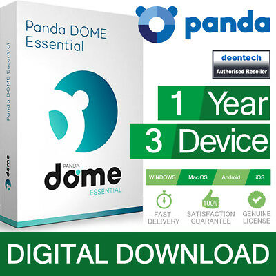 Panda Dome Essential 2019 (3PCs/1Year) Antivirus Pro Genuine Authentic License