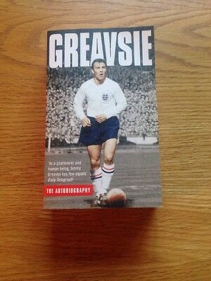 Signed Book The Autobiography Greavsie Paper Back