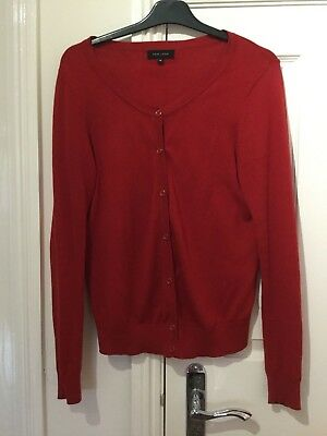 Ladies New Look red cardigan top size 14