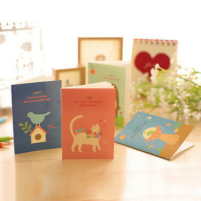 Animal Diary Notebook Paper Writing Memo Planner Travel Journal Note Book MW