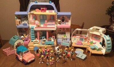Fisher Price Loving Family Doll House, Camper, Barn, Car, People & Furniture