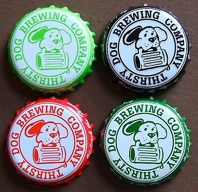 4 Thirsty Dog Brewing Co. Craft Beer Bottle Caps Crowns Akron, Ohio NO DENTS