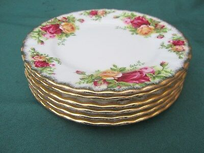 6 x Royal Albert...OLD COUNTRY ROSES TEA/SIDE PLATES 1st QUALITY