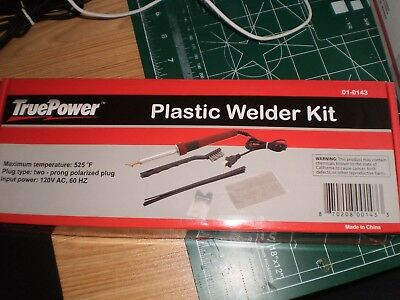 TruePower Plastic Welder Kit With Assorted Plastic Filler Rods