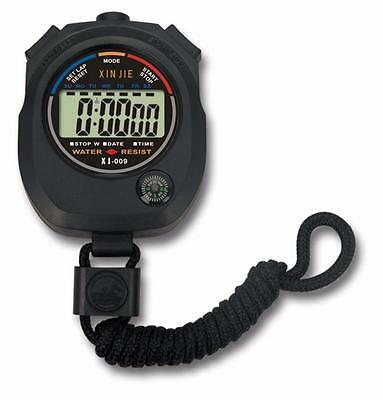 Waterproof Digital LCD Stopwatch Chronograph Timer Counter Sports Alarm Vogue