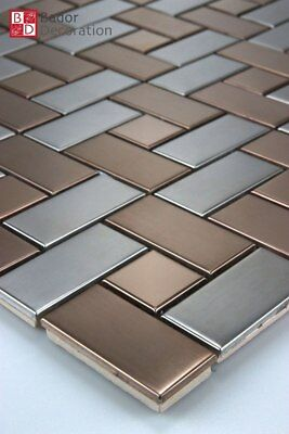 Metal Mosaic Stainless steel from Bronze Silver
