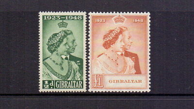 Gibraltar 1948 Silver Wedding Pair Mnh Cat £61.50