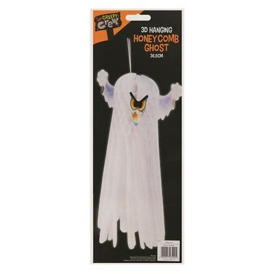 """15"""" Hanging 3D Halloween Ghost Decoration Novelty Home Party Trick Or Treat"""