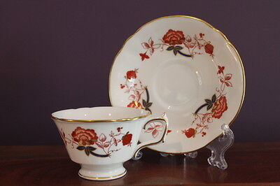 ROYAL CROWN DERBY 'BALI' Teacup and Saucer