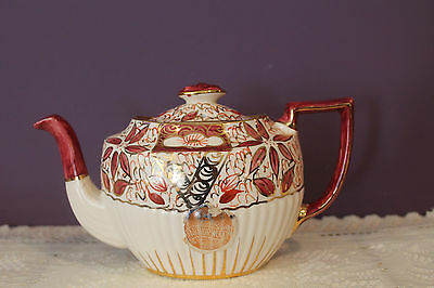 Lovely Arthur Wood England Teapot #3825 'arthur Wood Label'