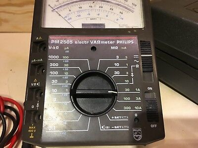 Philips ( Fluke ) PM2505 professionelles hochwertiges analog Multimeter ex BW