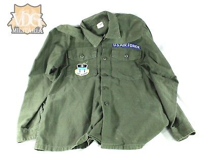 US Air Force Academy USAF 1950s/60s Green Shirt