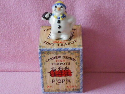 Cardew Tiny Teapot.. Snowman.. Boxed.. Lovely Condition..