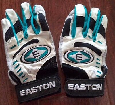 Florida Marlins Luis Castillo Game Used Autographed Signed Pair Batting Gloves