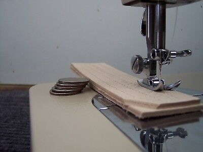"""SINGER INDUSTRIAL STRENGTH HEAVY DUTY SEWING MACHINE 14-16oz Leather 5/16"""" Lift"""