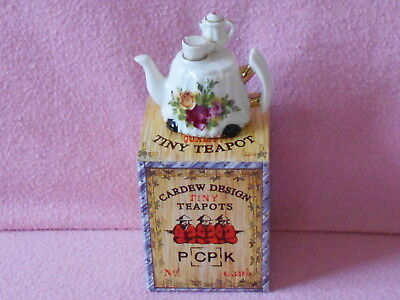 Cardew Tiny Teapot.. Royal Albert Table.. Boxed.. Lovely Condition..