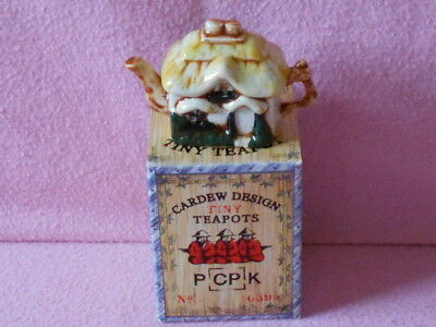 Cardew Tiny Teapot.. Cottage.. Boxed.. Lovely Condition..