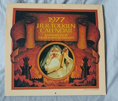 1977 J.R.R. Tolkien Calendar by the Brothers Hildebrandt