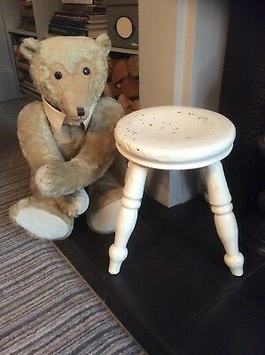 Lovely Antique As Found Shabby Chic Child's  Stool