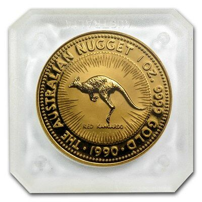 Australian $5 Proof Gold Coin 1/20 Oz 1990 Red Kangaroo - Sealed At Perth Mint