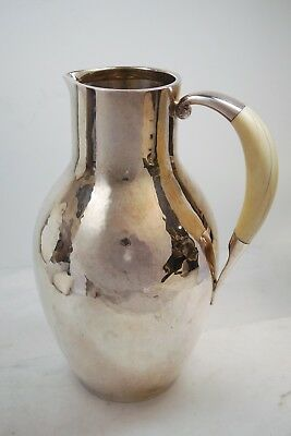 Georg Jensen Sterling Silver Pitcher With Bone Handle - Denmark
