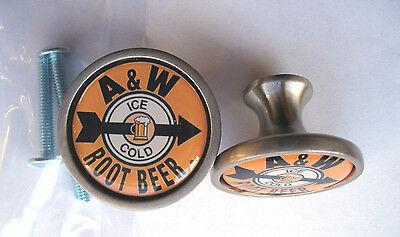 A&W Root Beer Soda Cabinet Knobs, A & W Root Beer Soda Logo Cabinet Knobs